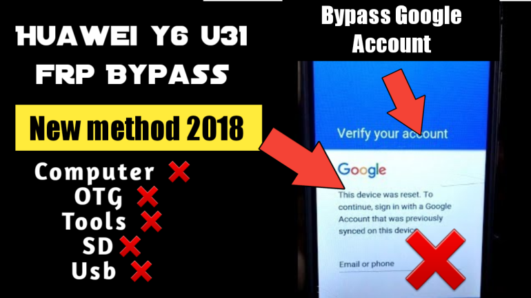 FRP bypass Google Accounts Huawei y6 u31 frp Technicalrightway